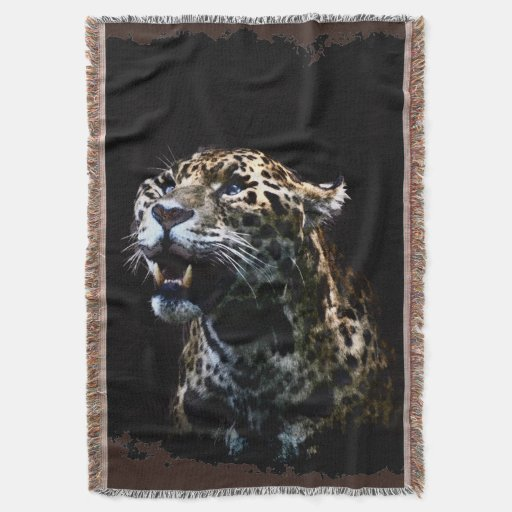 Jaguar Blanket: Big Cat Jaguar Spotted Panther Wildlife Throw Blanket