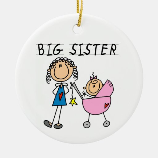 Big Sister With Little Sister Gifts Christmas Ornament ...