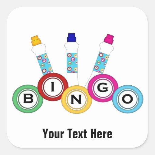 Bingo Customizable Square Sticker Zazzle
