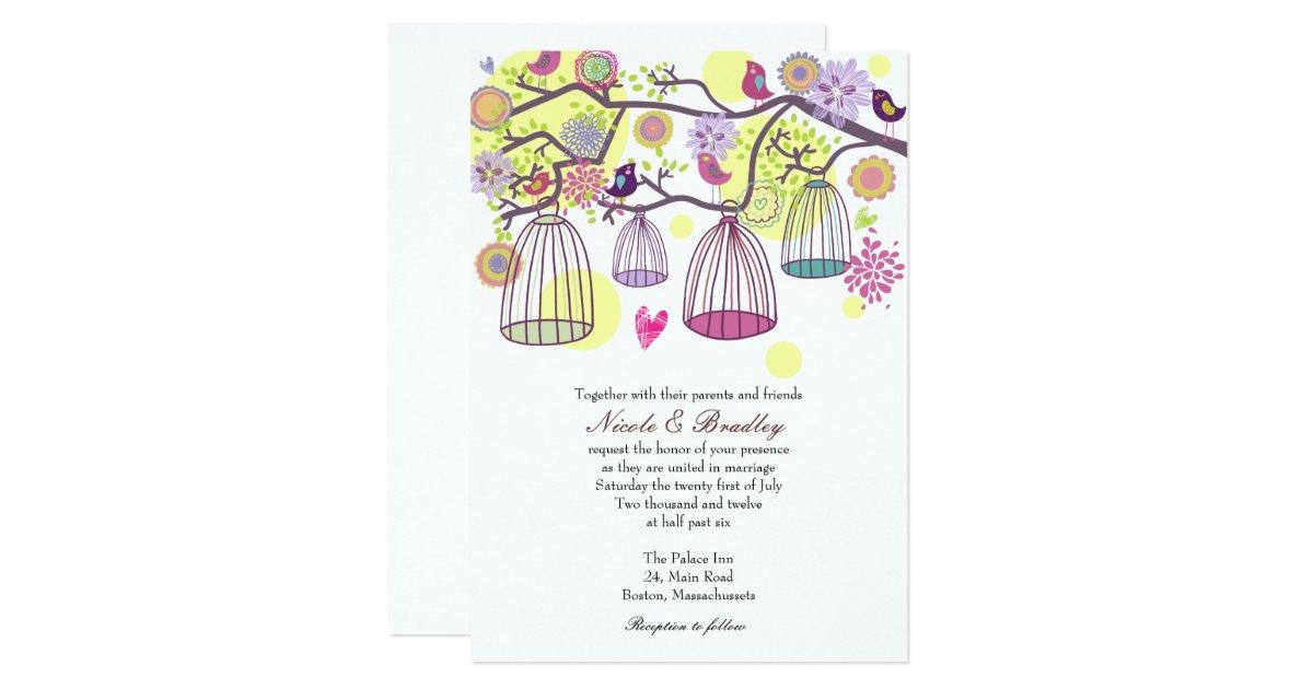 Wedding Invitations Birdcage: Bird Cage Love Birds Wedding Invitation