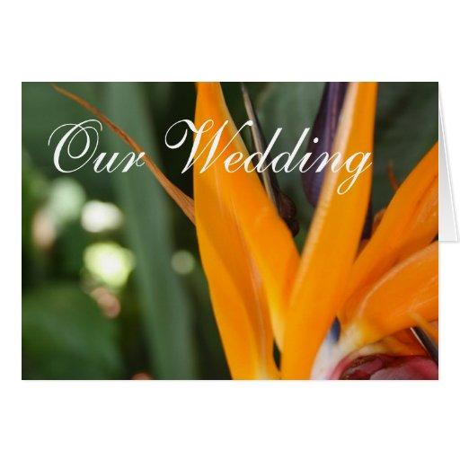 Bird Of Paradise Tropical Wedding Invitation Cards
