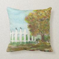 Birds Shelter in an Autumn Tree Throw Pillow