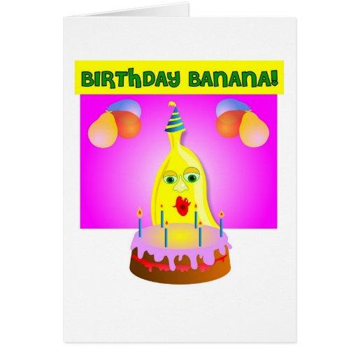 birthday banana greeting card  zazzle