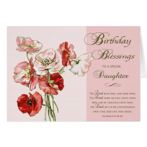 Birthday Blessings To A Special Daughter Card