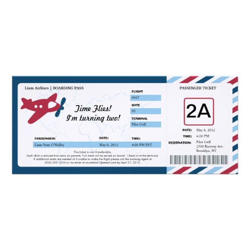 Personalized Airmail Invitations