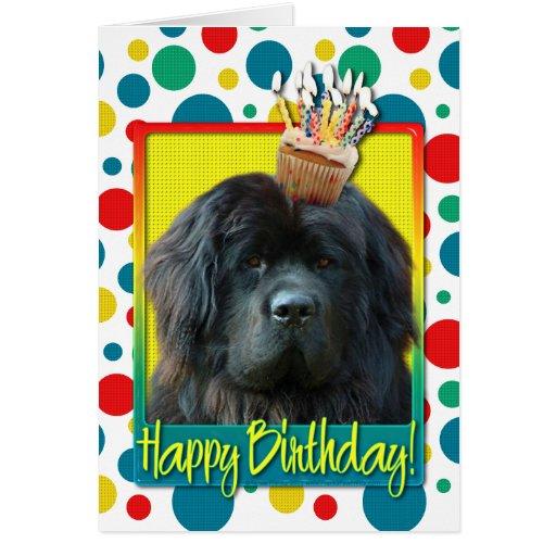 Birthday Cupcake - Newfoundland Greeting Card   Zazzle