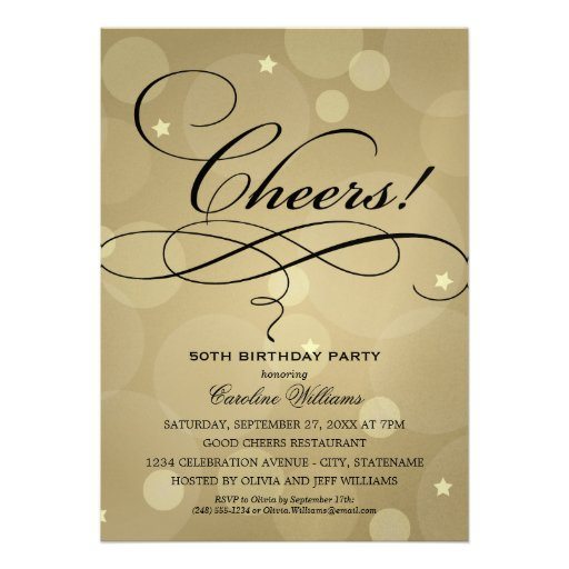 Personalized Champagne Birthday Party Invitations