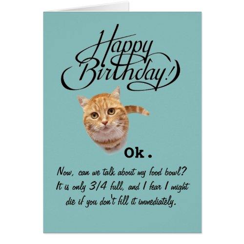 Cute Gifts For Siberianmom Cats Perspective Birthday Card From The Cat Wishes Happy Funny