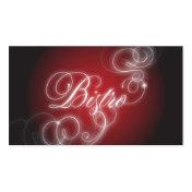Bistro Business Card Elegant Flourish Glow
