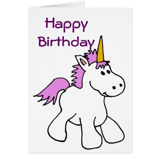bk unicorn birthday card  zazzle