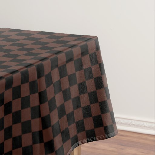 Black And Brown Checkered Tablecloth Zazzle