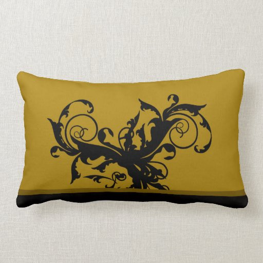black and gold damask custom gift throw pillow zazzle. Black Bedroom Furniture Sets. Home Design Ideas