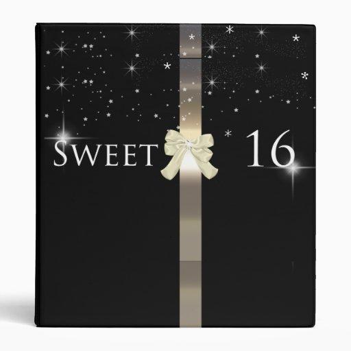 Black And Gold Sweet Sixteen Photo Album Binder Zazzle