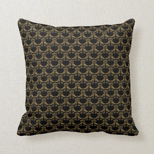 black and gold throw pillow zazzle. Black Bedroom Furniture Sets. Home Design Ideas