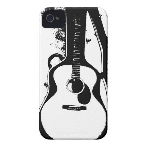 black and white acoustic guitar case zazzle. Black Bedroom Furniture Sets. Home Design Ideas