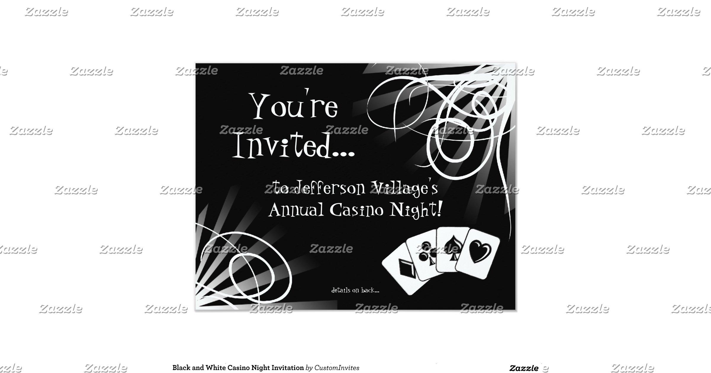 black and white casino night