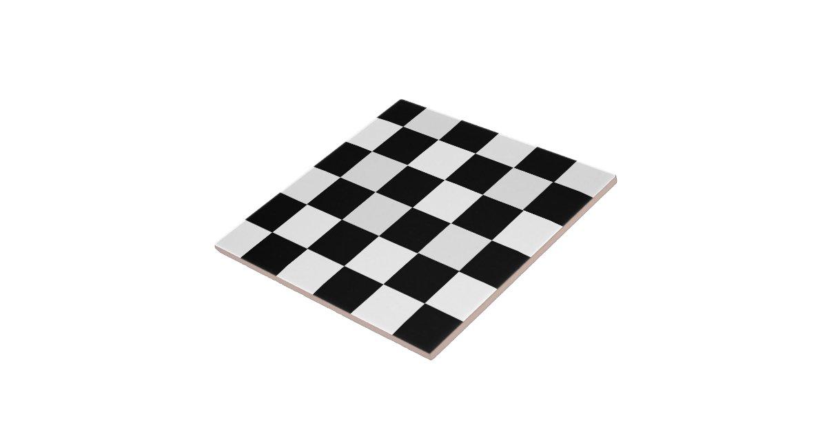 black and white checkered ceramic tile zazzle. Black Bedroom Furniture Sets. Home Design Ideas