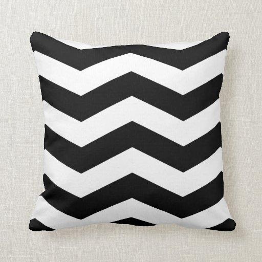 Black And White Chevron Throw Pillow Zazzle