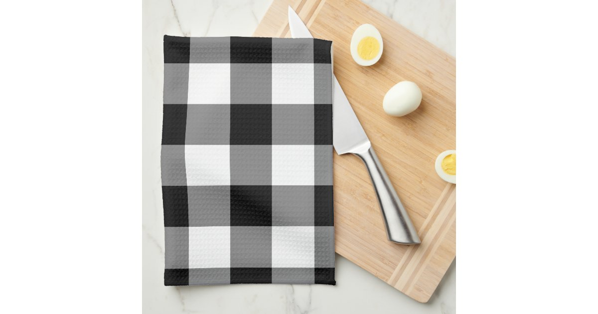 Black And White Gingham Pattern Hand Towel Zazzle