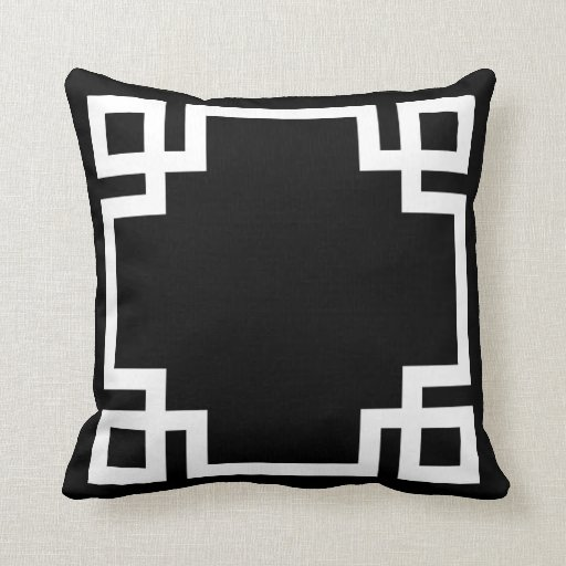 black and white greek key throw pillows. Black Bedroom Furniture Sets. Home Design Ideas