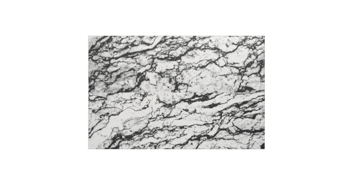 Black And White Marble Stone Pattern Fabric Zazzle