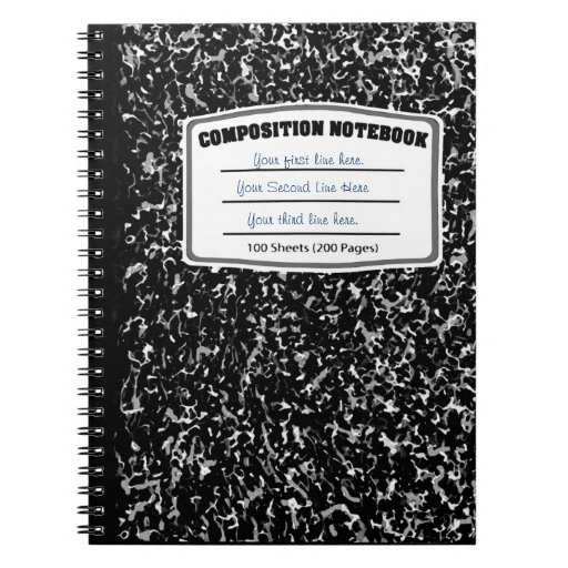 Black And White Marbled Print Composition Notebook Zazzle