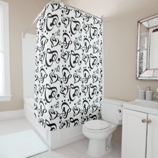 Musical Notes Shower Curtains Zazzle