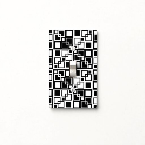 Black And White Op Art Squares Light Switch Cover Zazzle