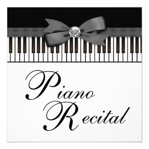 Personalized Recital Invitations
