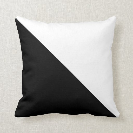 black and white pillow. Black Bedroom Furniture Sets. Home Design Ideas