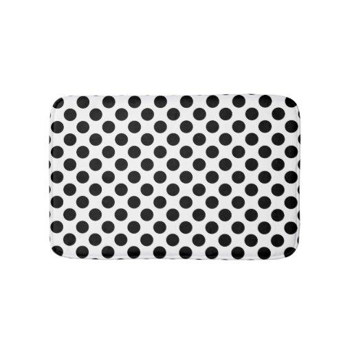Black And White Polka Dot Bathroom Mat Zazzle