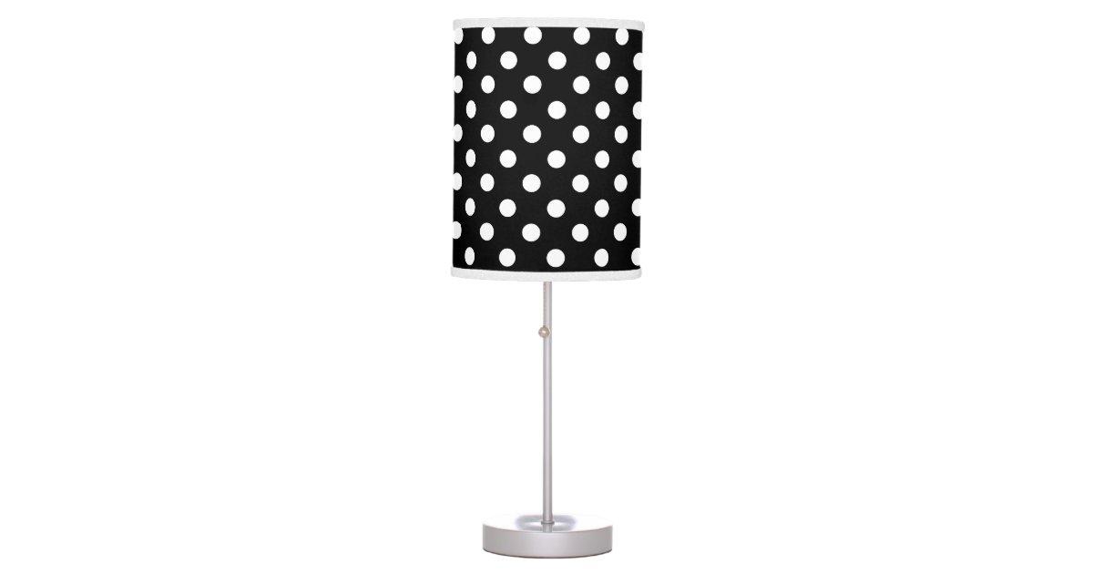 Black And White Polka Dot Desk Lamp Zazzle