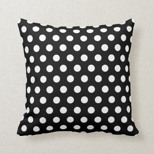 black and white polka dots pillows. Black Bedroom Furniture Sets. Home Design Ideas