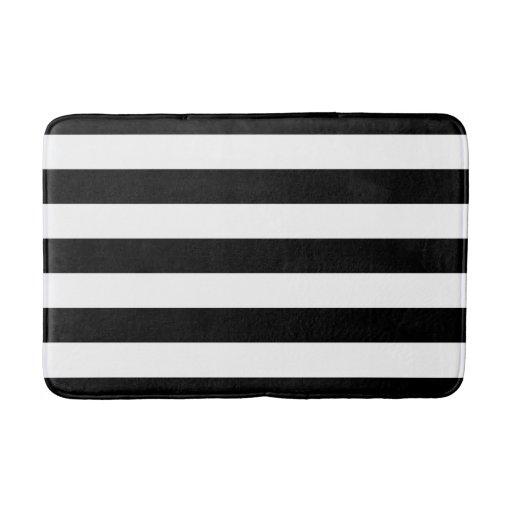 Black And White Striped Bath Mat Zazzle