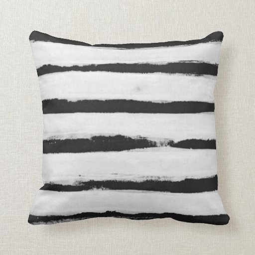 black and white stripes throw pillow. Black Bedroom Furniture Sets. Home Design Ideas