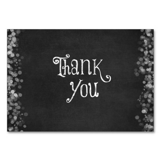 Black and White Thank You Card | Zazzle