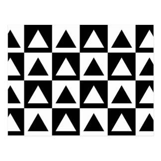 black and white geometric patterns postcards zazzle. Black Bedroom Furniture Sets. Home Design Ideas