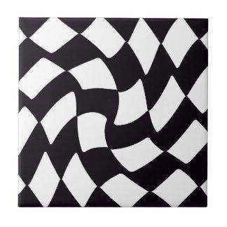 black and white checkerboard ceramic tiles zazzle. Black Bedroom Furniture Sets. Home Design Ideas