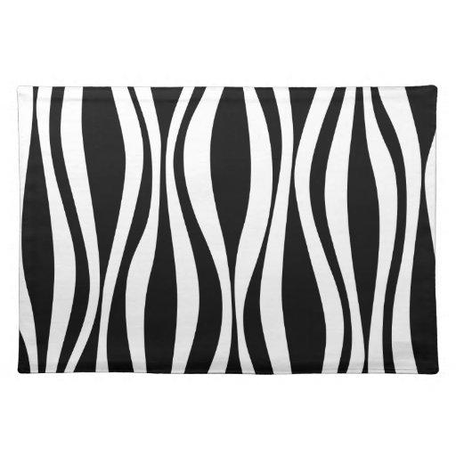 Aninimal Book: Black and white zebra pattern placemat | Zazzle