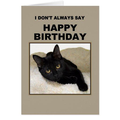 Black Cat Birthday Humor Card