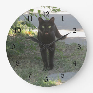 Cat Clocks Amp Cat Wall Clock Designs Zazzle