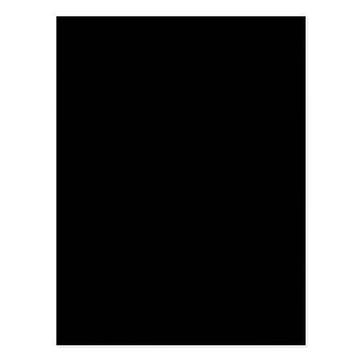 Black Color Plain Pitch Black Background Space Postcard ...