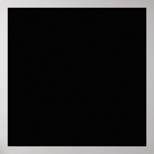 Black Color Plain Pitch Black Background Space Poster | Zazzle