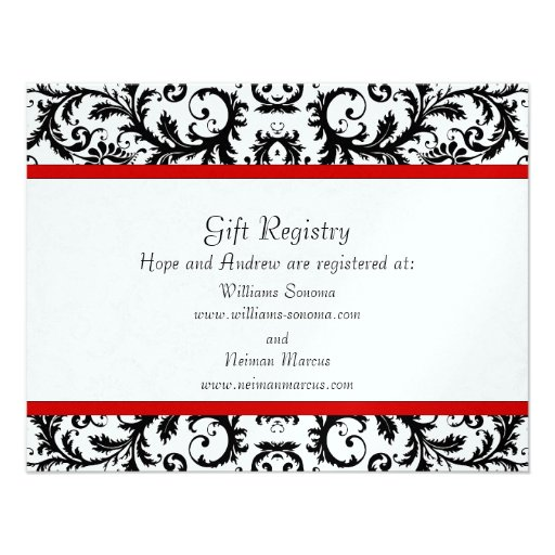 Gift Registry Wedding: Personalized Gift Registry Invitations
