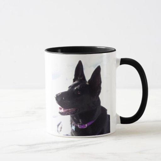 Black German Shepherd Mug Zazzle