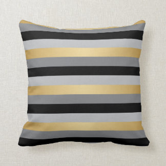 gold and black pillows decorative throw pillows zazzle. Black Bedroom Furniture Sets. Home Design Ideas