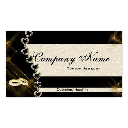 black  gold jewelry business cards  zazzle
