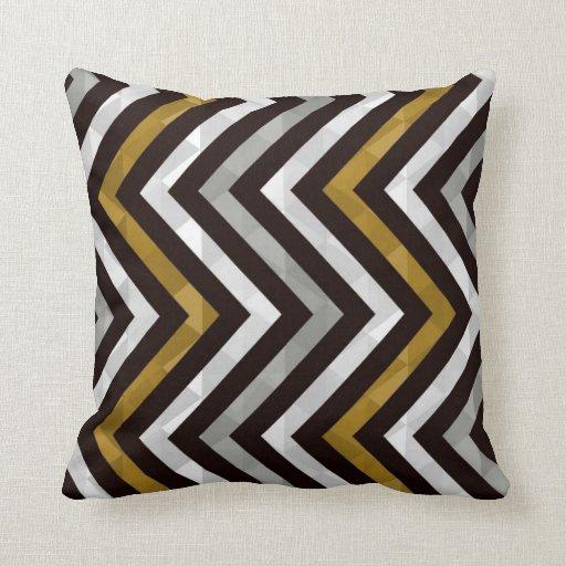 black gold white chevron pillow zazzle. Black Bedroom Furniture Sets. Home Design Ideas