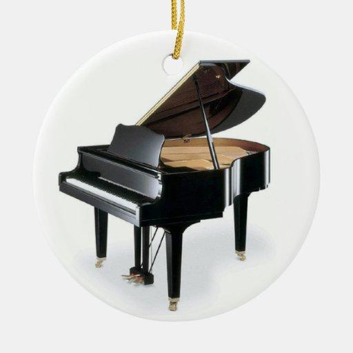 Black Grand Piano Music Christmas Christmas Tree Ornaments ...