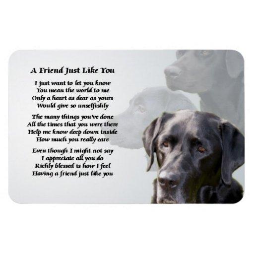 Black Labrador Friend Poem Magnet Zazzle